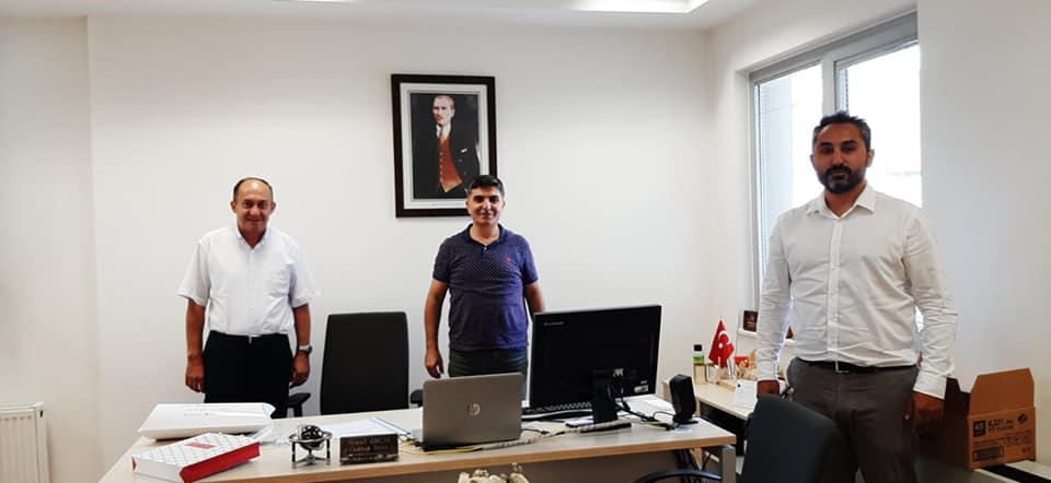 Üsküdar Telekom Müdürlüğü'ne atanan Ahmet KOÇAK beyi ziyaret ettik