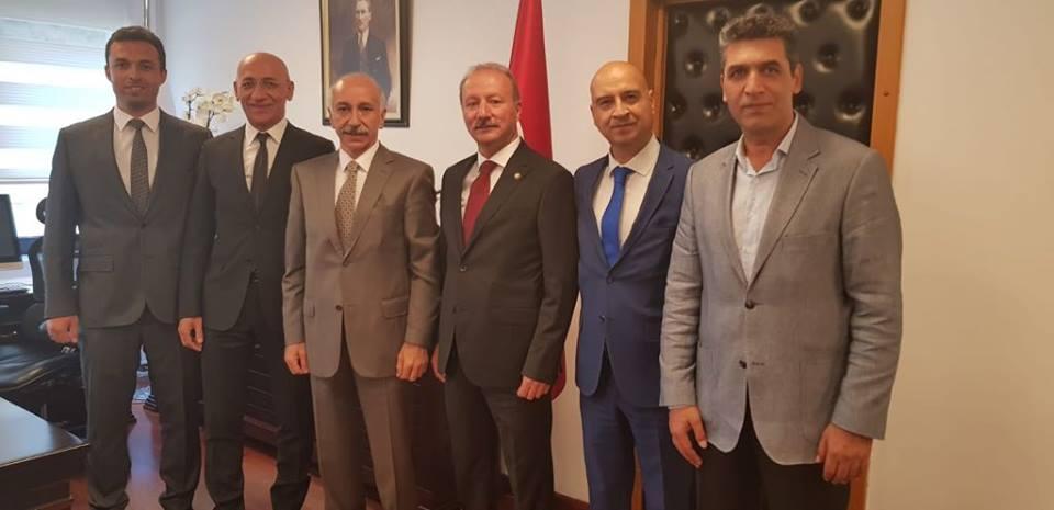 Ulaştırma ve Altyapı Bakan Yardımcımız Sn Selim Dursun Bey'i makamında ziyaret ettik