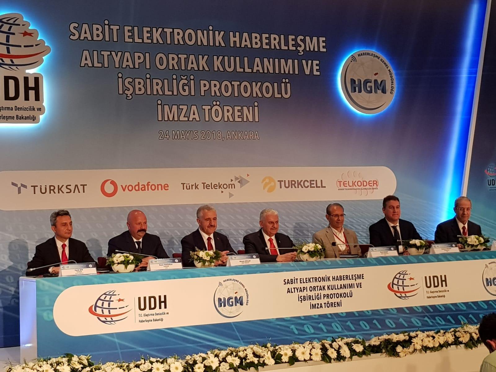Sabit Elektronik Haberleşme Altyapı Ortak Kullanımı ve İşbirliği Protokolü İmza Törenindeydik